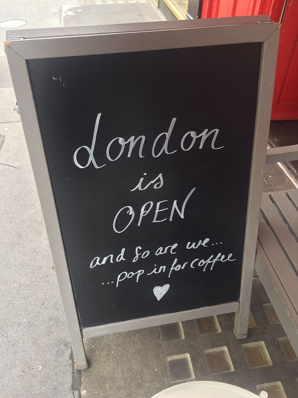 London cafes are welcoming visitors