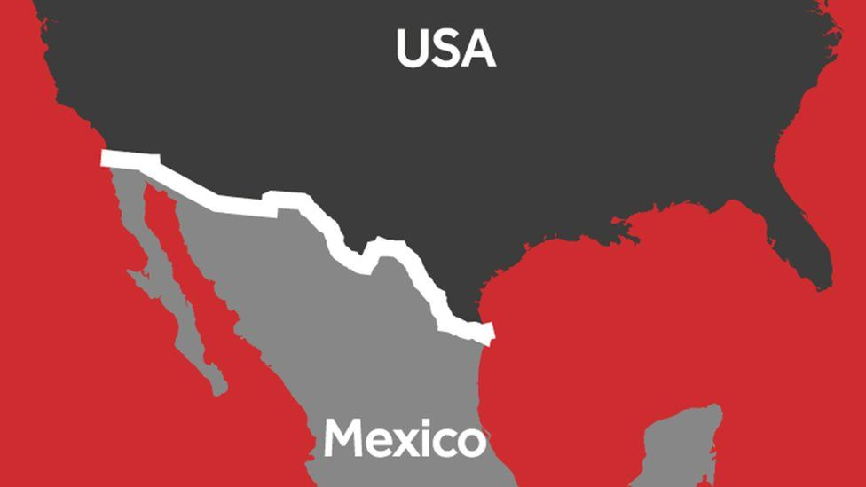 How Trumps Wall Compares To Other Famous Walls BBC Newsbeat - Us mexico wall map