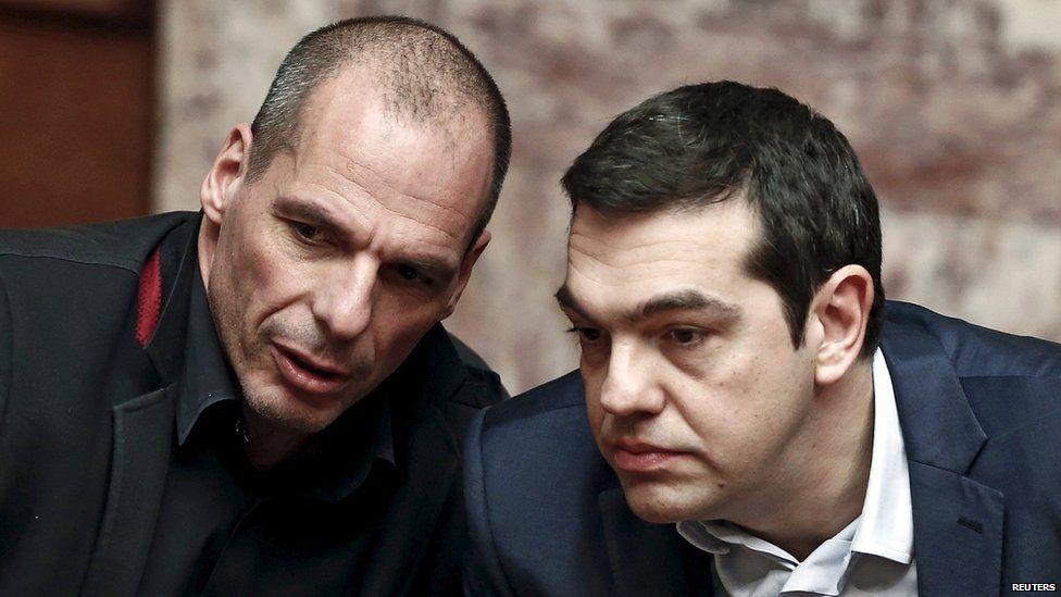 Yanis Varoufakis and Alexis Tsipras