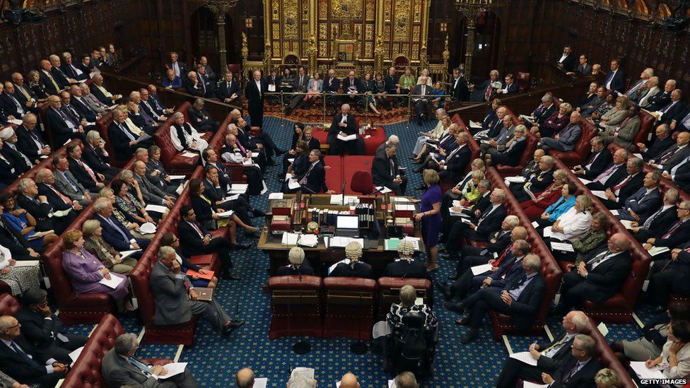 A picture of the House of Lords during a debate