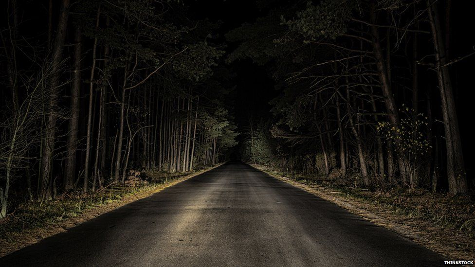 Dark country road