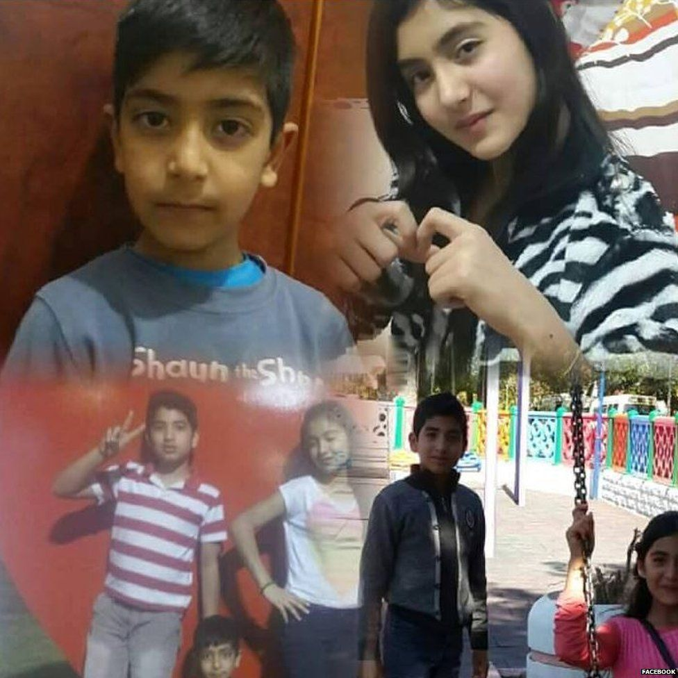 Photo of missing Iraqi brothers and sisters aged between 7 and 13