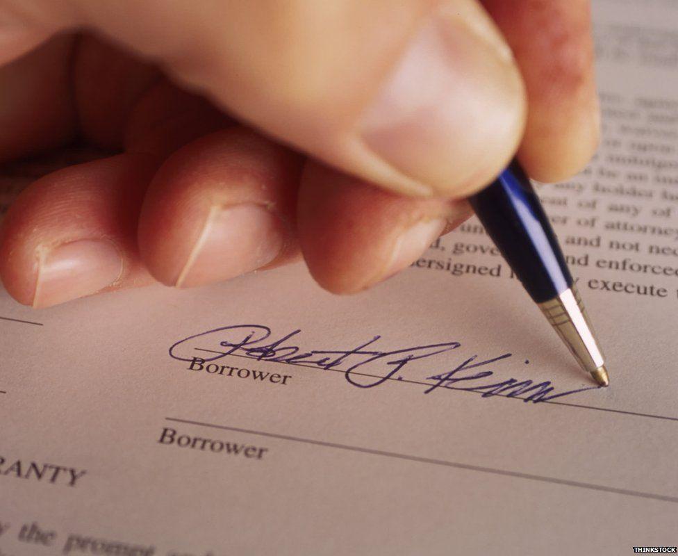 Loan signature