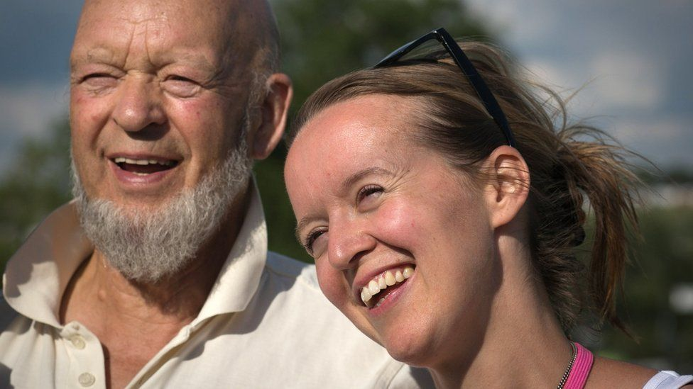 Emily Eavis with her father Michael Eavis, the founder of Glastonbury festival