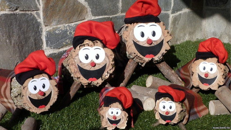This is a photo of the Catalonian Poo logs.