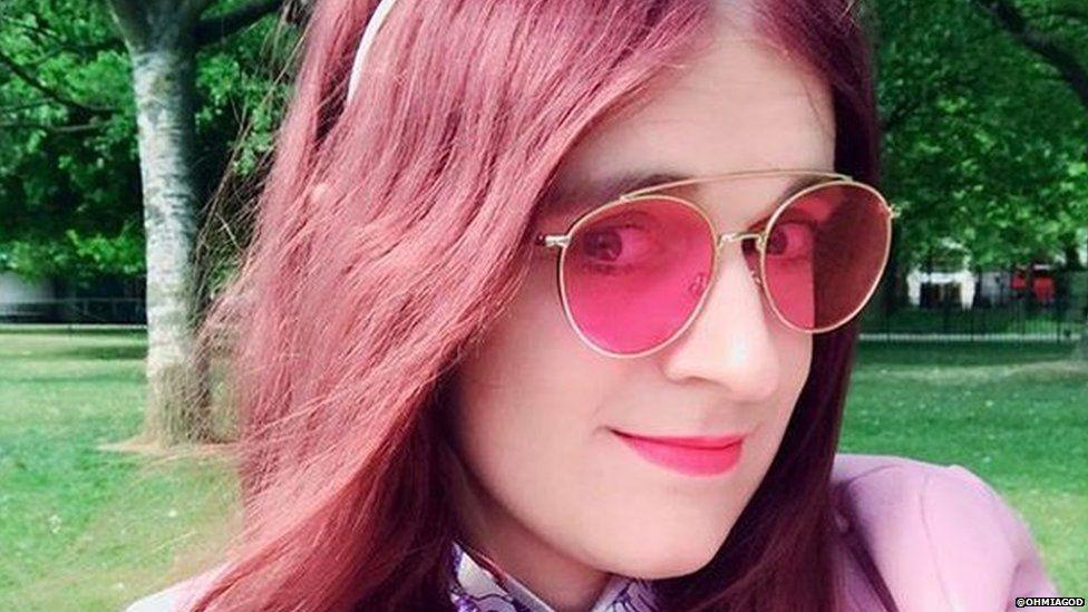 Transgender blogger Mia Violet