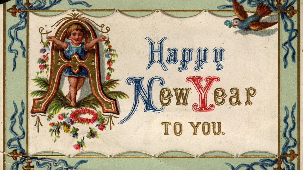 An old New Year card