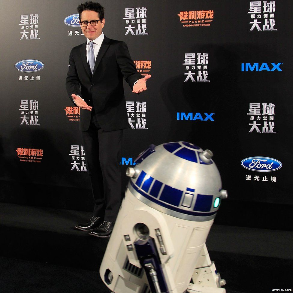 J.J Abrams and R2D2
