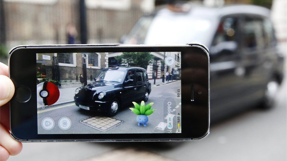 Pokemon Go being played in London