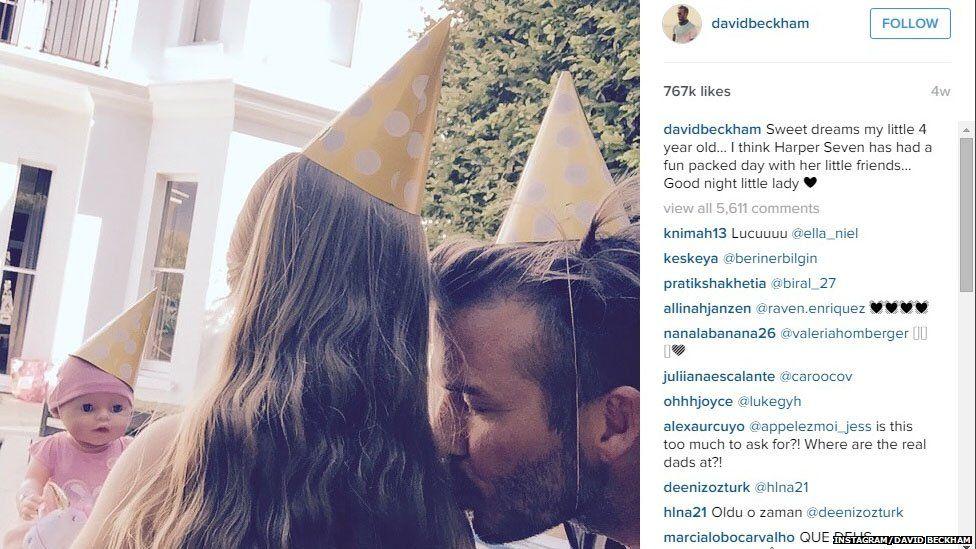 David Beckham Instagram post