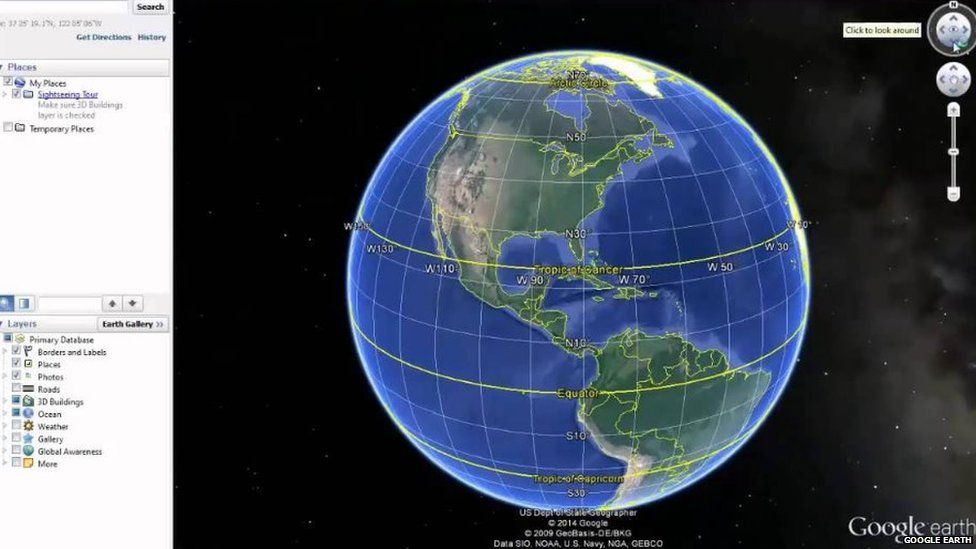 To google earth Go
