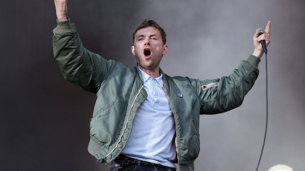 Blur performing at BST