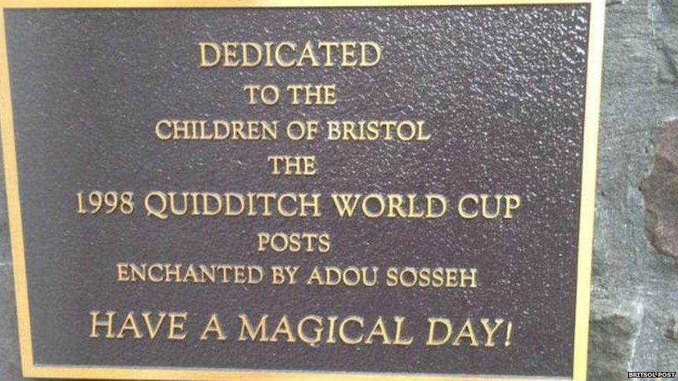 The Harry Potter plaque at Bristol children's hospital