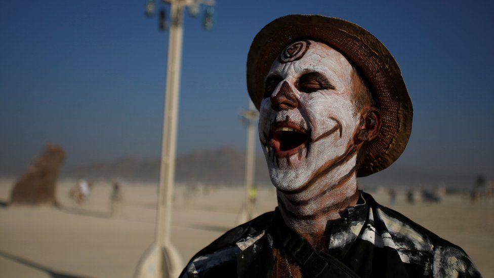 Burning Man festival-goer