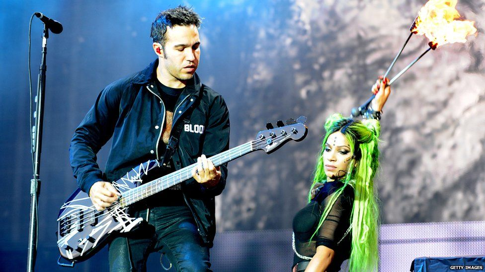 Fall Out Boy perform at Leeds festival