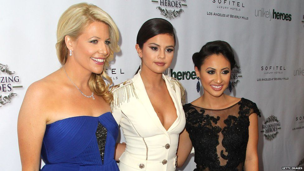 Erica Greve, Selena Gomez and Francia Raisa