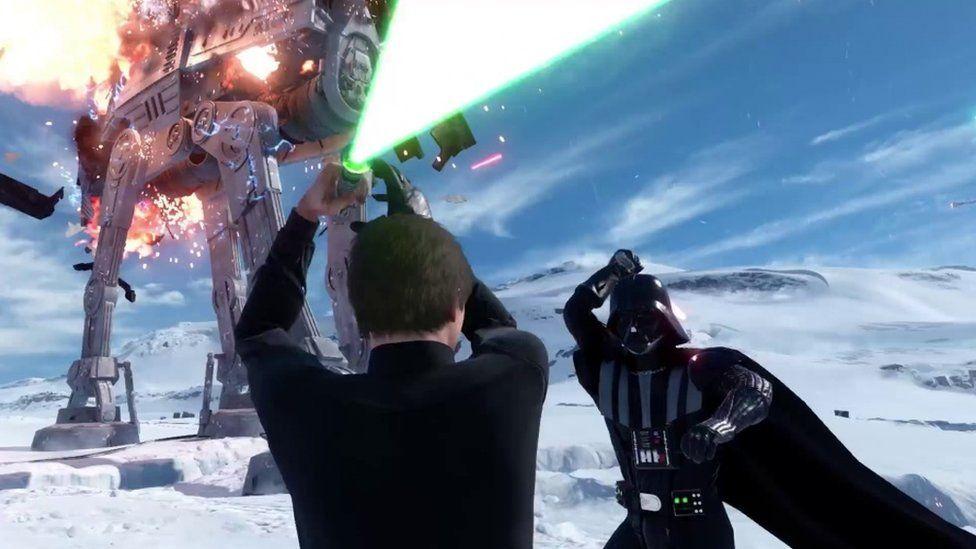 Vader lightsaber fight with Luke