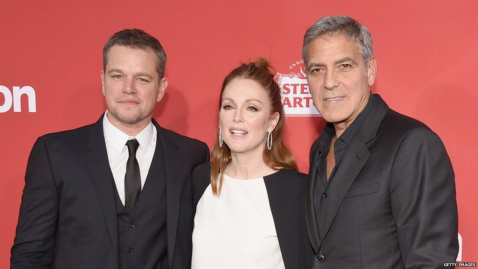 Matt Damon, Julianne Moore and George Clooney