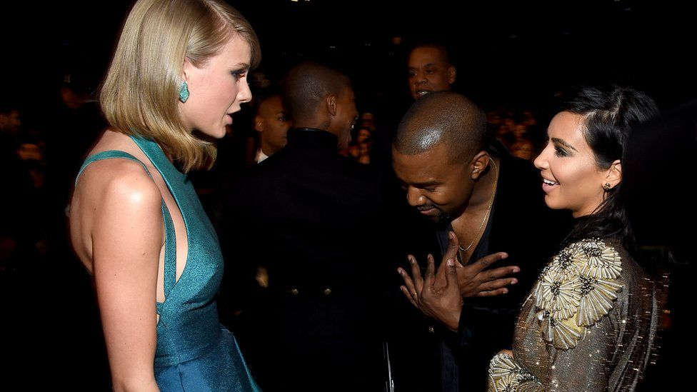 Taylor Swift, Kim Kardashian and Kanye West