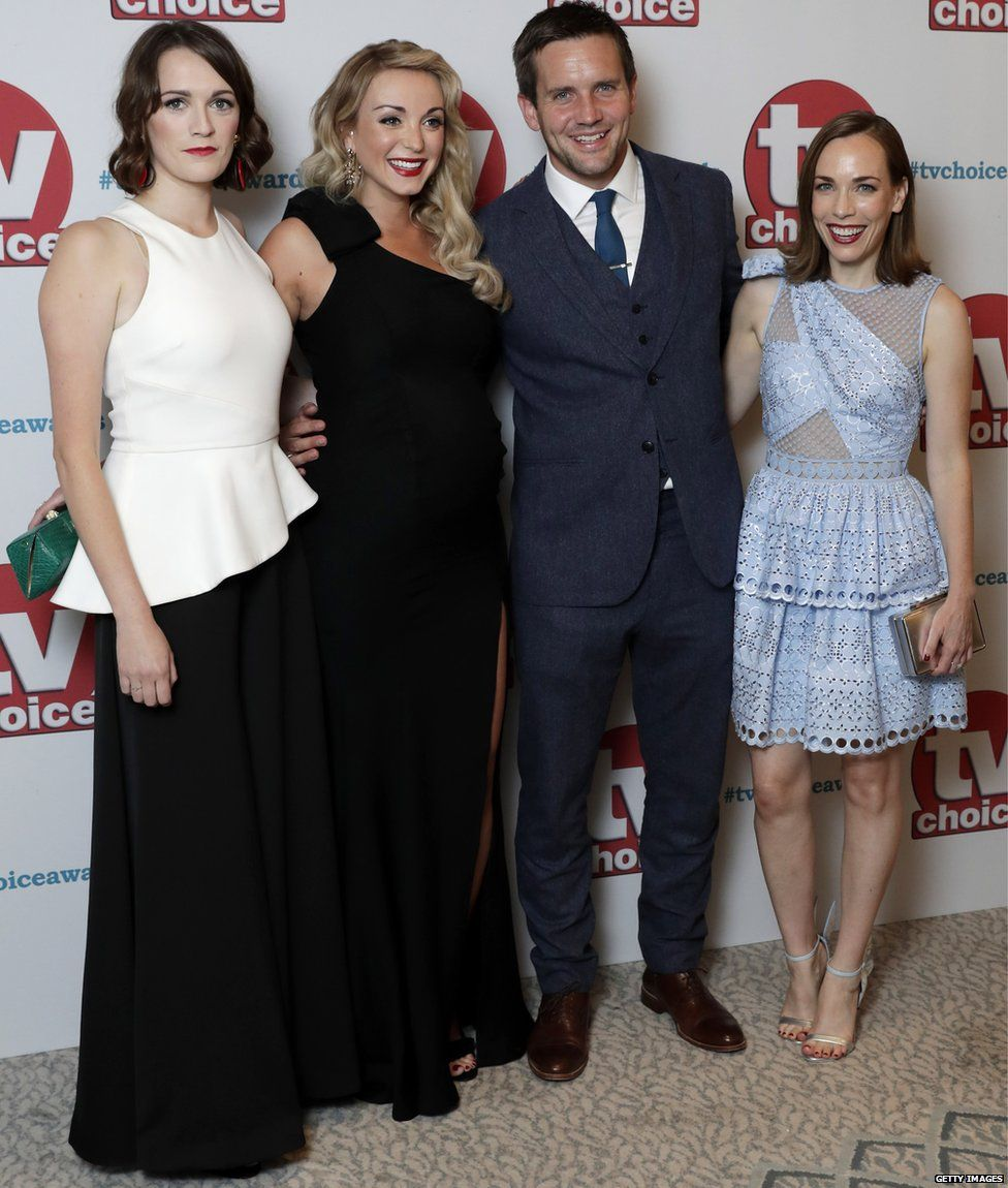 Charlotte Ritchie, Jack Ashton, Helen George and Laura Main
