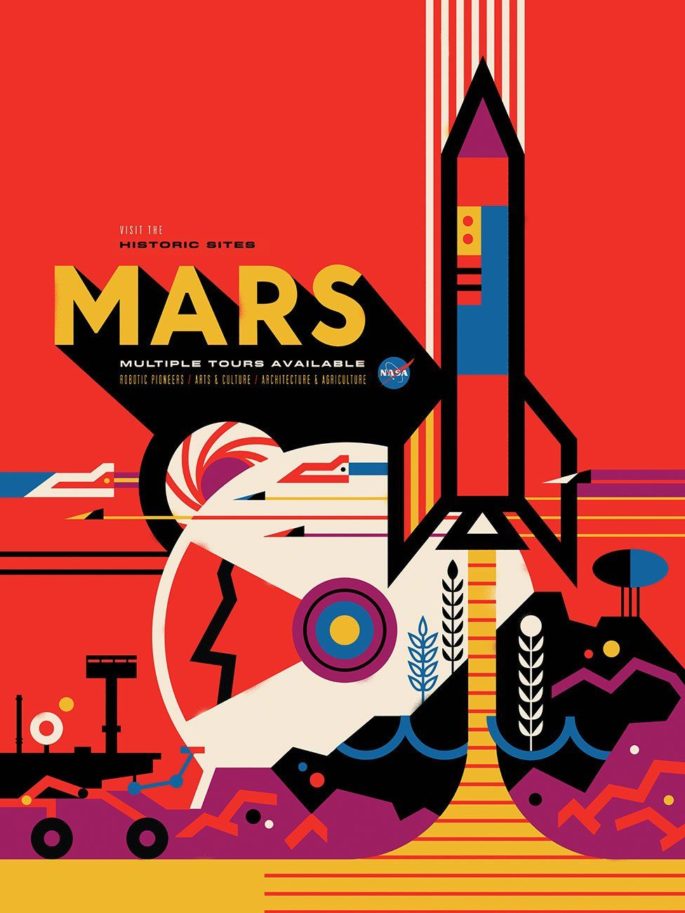 These space tourism posters will make you want to visit for Space poster design