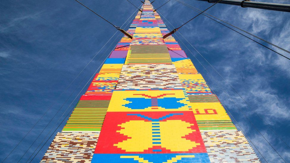 118-foot Lego tower in Tel Aviv aims to break record