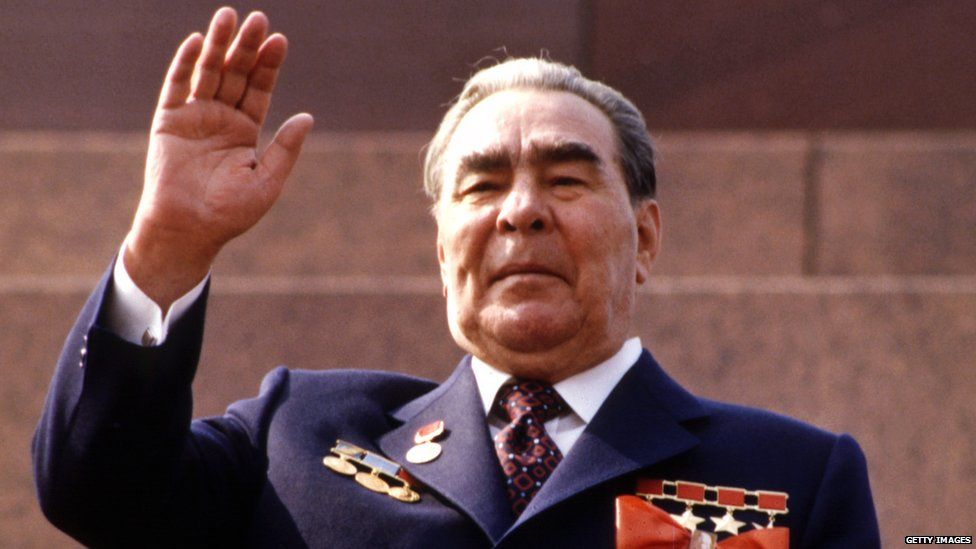 Leonid Brezhnev, leader of the Soviet Union in the 1970s