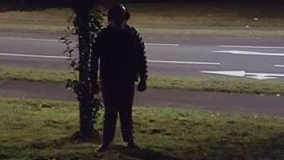 This character was spotted in the dark along Epinal Way in Loughborough