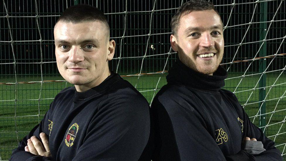 Berwick Rangers teammates Jordyn Sheerin and Jonny Fairbairn