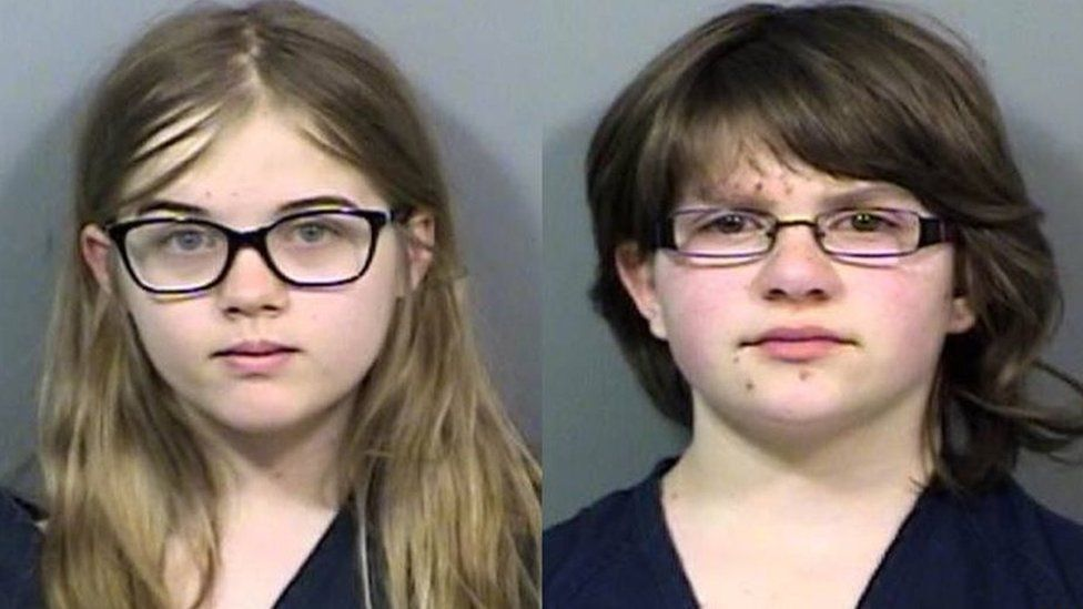 The two girls could now face decades in prison