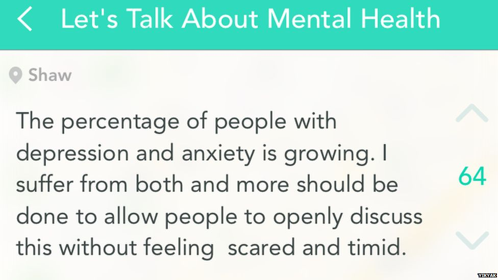 People with depression and anxeity