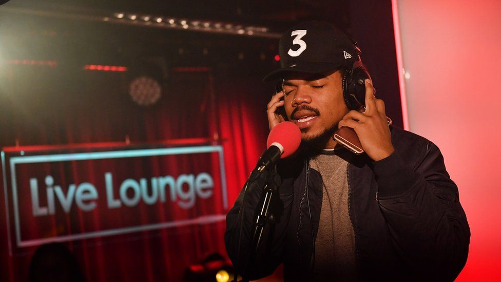 Chance The Rapper performing in the Radio 1Xtra live lounge