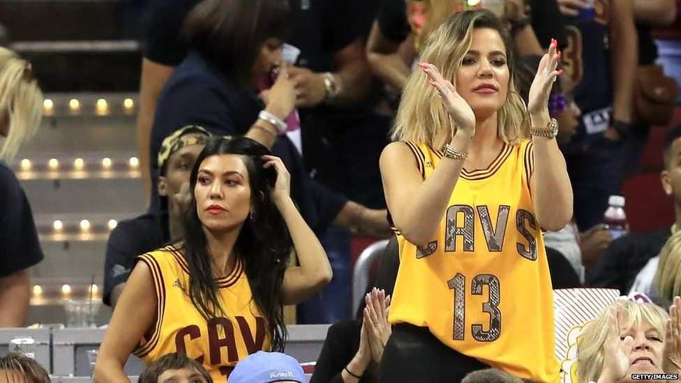 Khloé Kardashian at a Cleveland Cavaliers game
