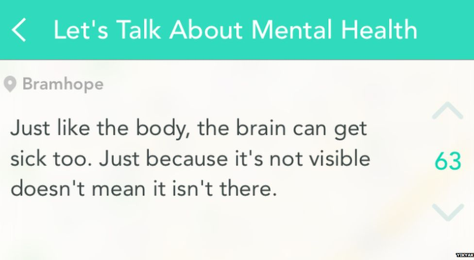 People on YikYak were using the app to try and tackle wrong perceptions