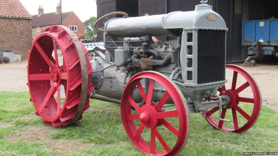 A 100-year-old Ford tractor