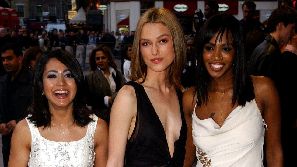 Parminder Nagra, Keira Knightley and Shaznay Lewis at the Bend It Like Beckham premiere