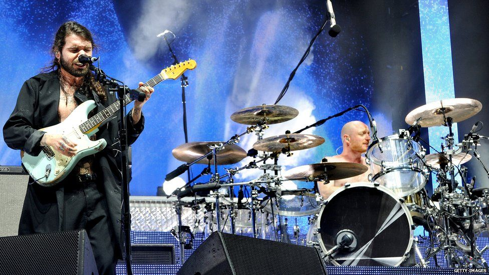 Biffy Clyro returned to the stage on Friday night at Leeds festival.