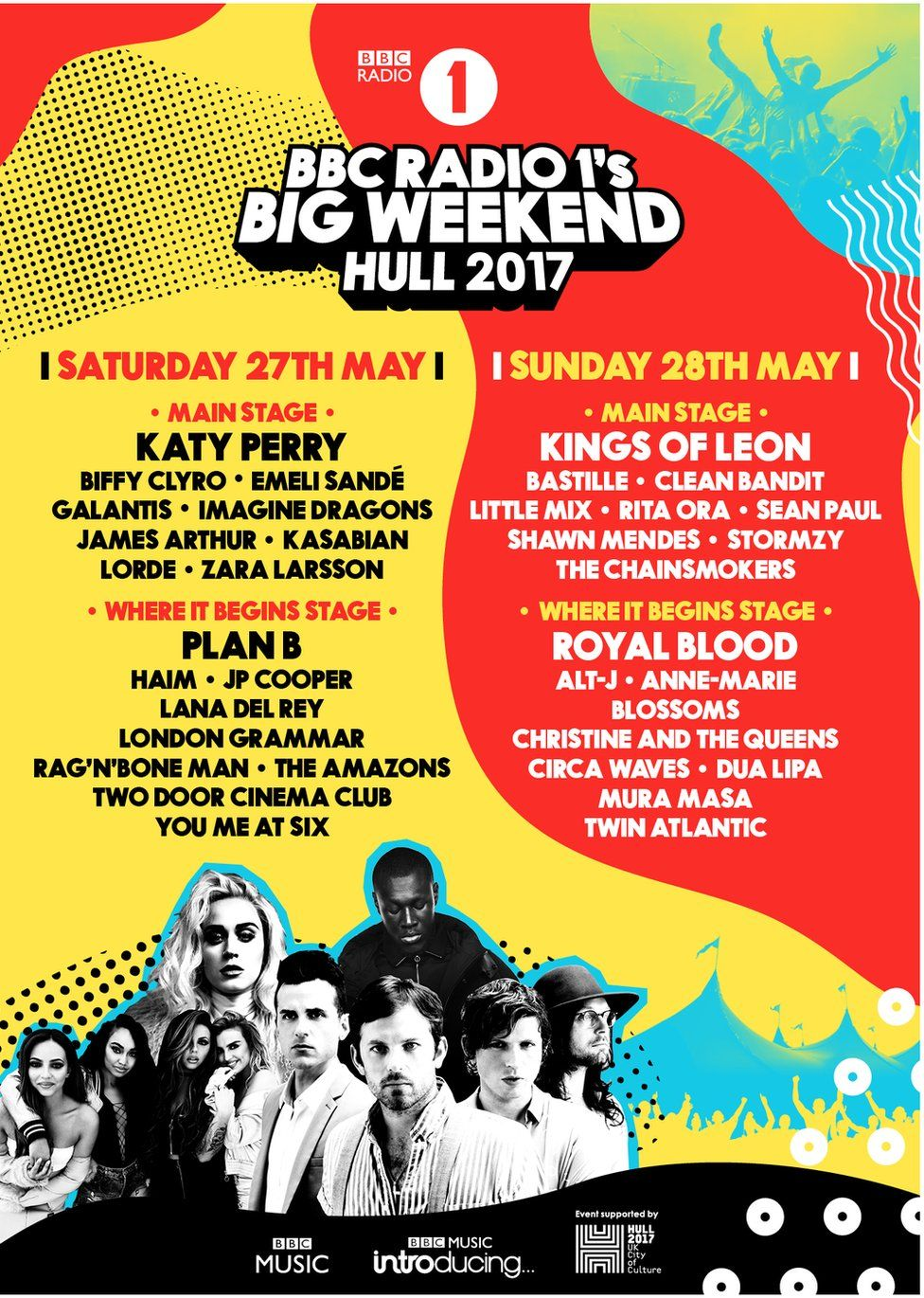 Radio 1 Big Weekend line-up