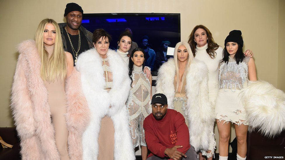 The Kardashian family wearing fur