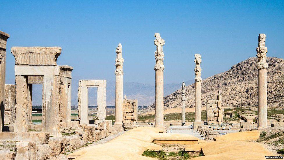 The ruins of Persepolis, built 2500 years ago