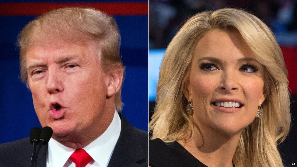 Donald Trump and Megyn Kelly.