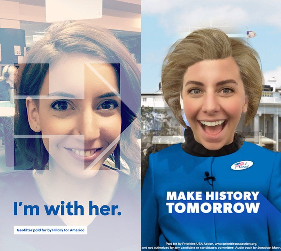 The Hillary Clinton Snapchat filter
