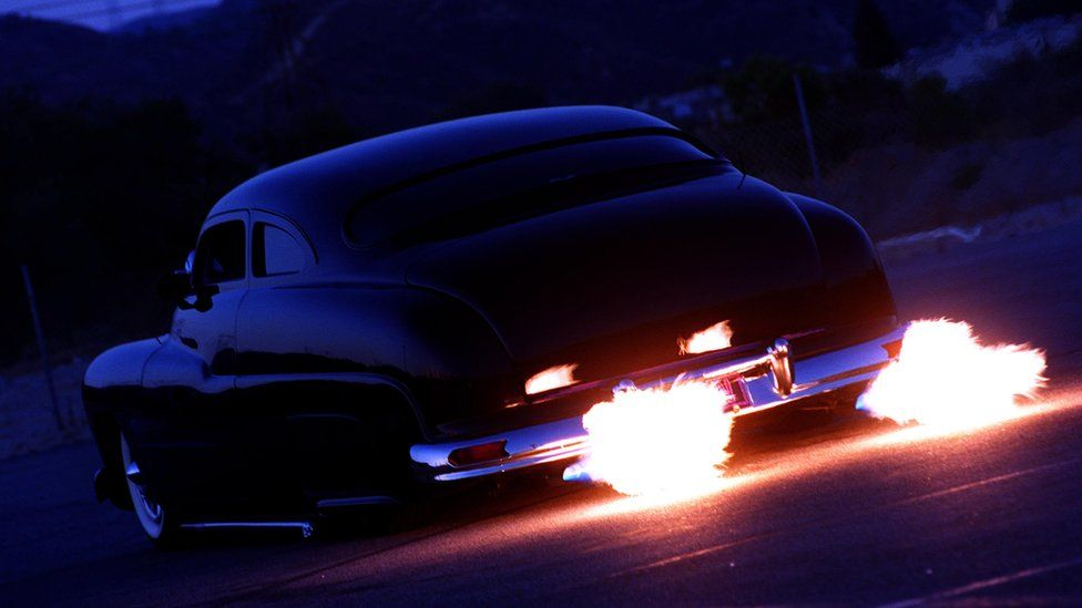 car with flame throwers