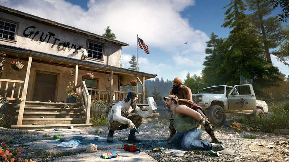 A screen shot from Far Cry 5