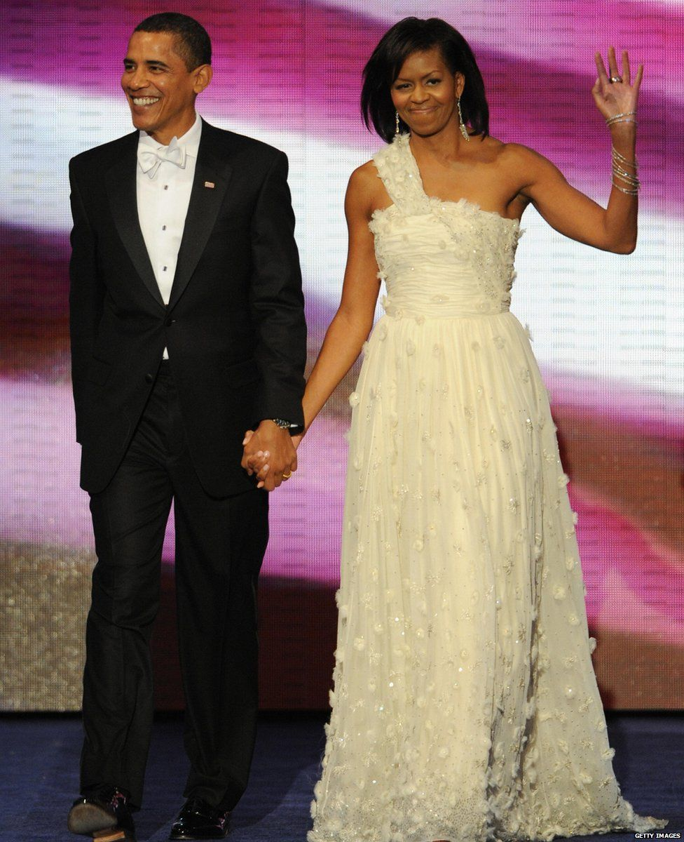 Michelle and Barack Obama at the Inauguration Ball, 2009