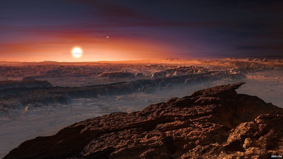 Artists impression of Proximi B, the rocky 'Earth-like' planet orbiting our second nearest star
