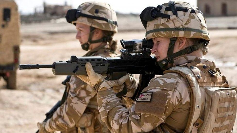 Female British soldiers in Afghanistan