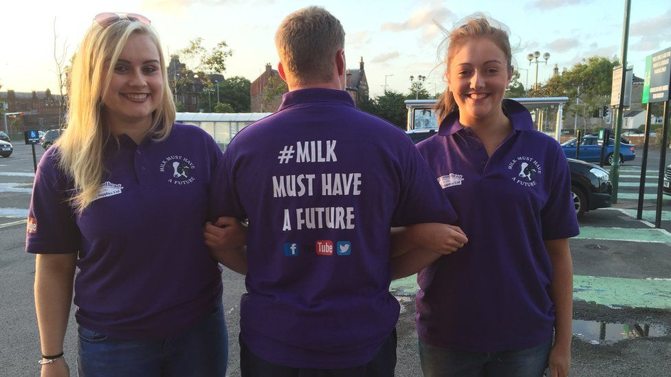 Young farmers protest in Kilmarnock
