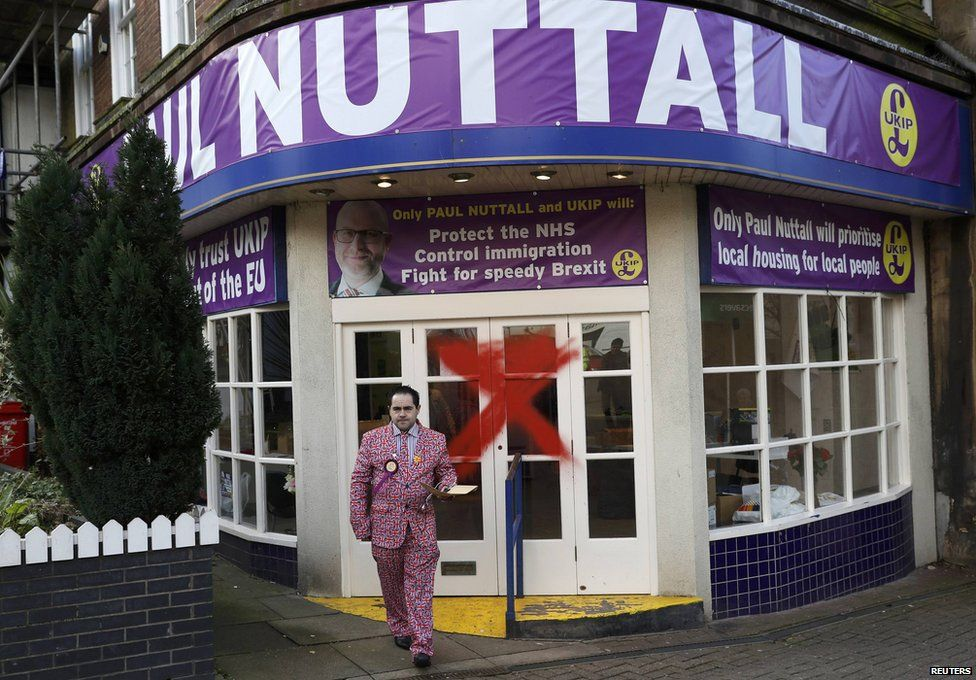 Paul Nuttall's campaign office