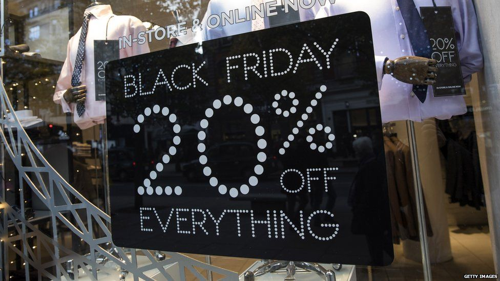 Shop sign advertising Black Friday